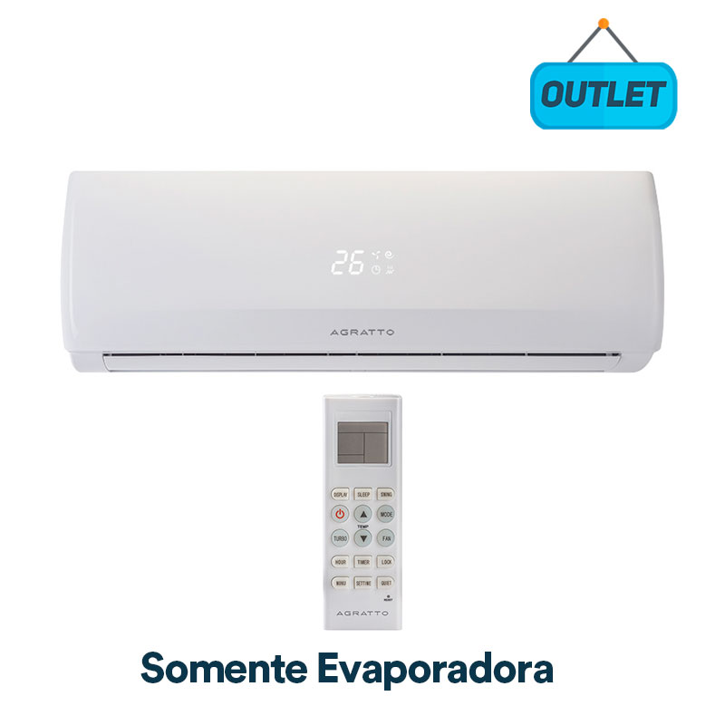 Evaporadora Split Hw On/off Fit Top Agratto 9000 Btus Quente/frio 220V Monofasico CCST9QFIRA42 - OUTLET