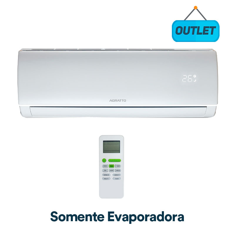 Evaporadora Split Hw On/off Eco Top Agratto 9000 Btus Frio 220V Monofasico ECST9FER402 - OUTLET4