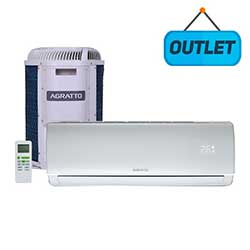 AR CONDICIONADO SPLIT HI WALL ON OFF AGRATTO ECO TOP 12.000 BTUS FRIO 220V MONO ECST12FR4-02 - OUTLE