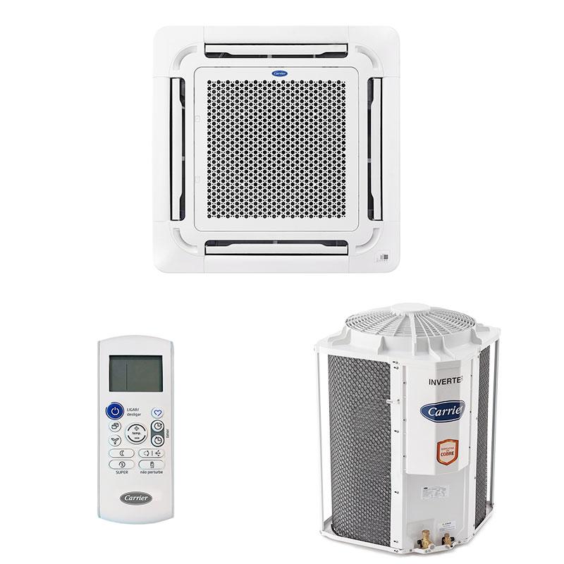 Ar Condicionado Split Cassete Inverter Carrier 48000 Btus Frio 220V Monofasico 40KVCB48C5