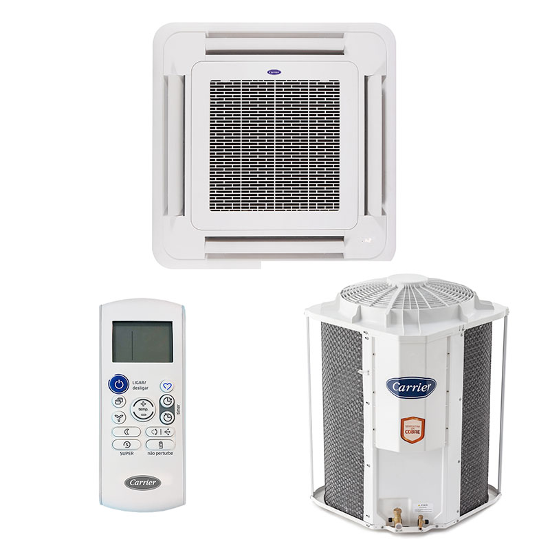 Ar Condicionado Split Cassete On/off Carrier 57000 Btus Quente/frio 380V Trifasico 40KWQU60C5