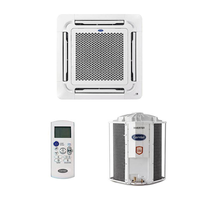 Ar Condicionado Split Cassete Inverter Carrier 48000 Btus Frio 220V Monofasico 40KVQB48C5