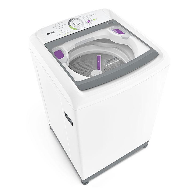 Máquina de Lavar Eletrônica Branca Consul 16 KG 220V CWL16ABBNA