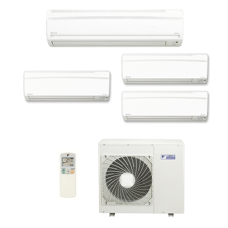 Ar Condicionado Multi Split Inverter Daikin Advance 3x12000 + 1x18000 HW Btus Quente/Frio 220v 1F