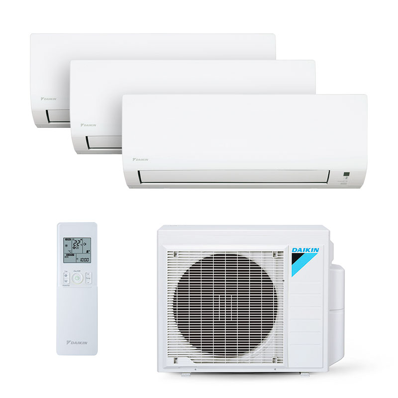 Ar Condicionado Multi Split Tri Inverter Daikin 2x9000+1x12000 Btus Quente/Frio 220V 1F 3MXS18PMVM