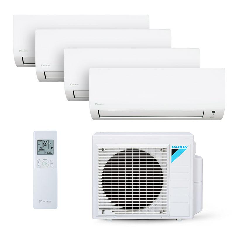Ar Condicionado Multi Split Quadri Inverter Daikin 3x12000+1x18000 Btus Quente/Frio 220V 1F 4MXS34PMVM