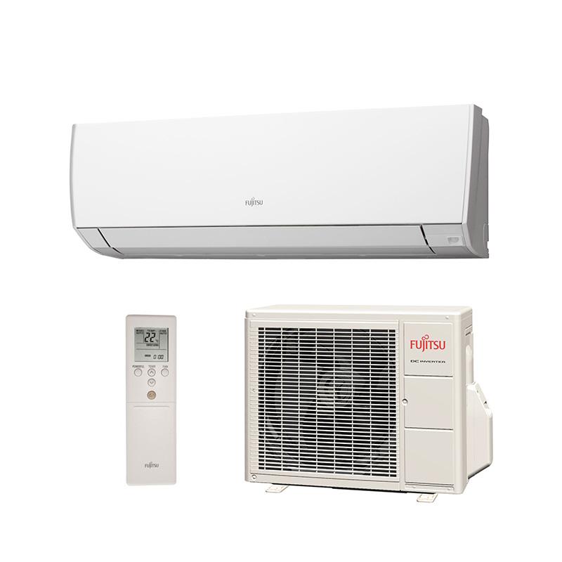 Ar Condicionado Split High Wall Inverter Fujitsu 9000 Btus Quente/Frio 220V 1F ASBG09LMCA