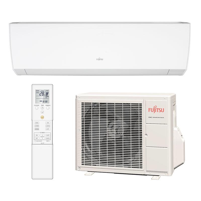 Ar Condicionado Split Hw Inverter Fujitsu 9000 Btus Frio 220V Monofasico ASBG09JMCA