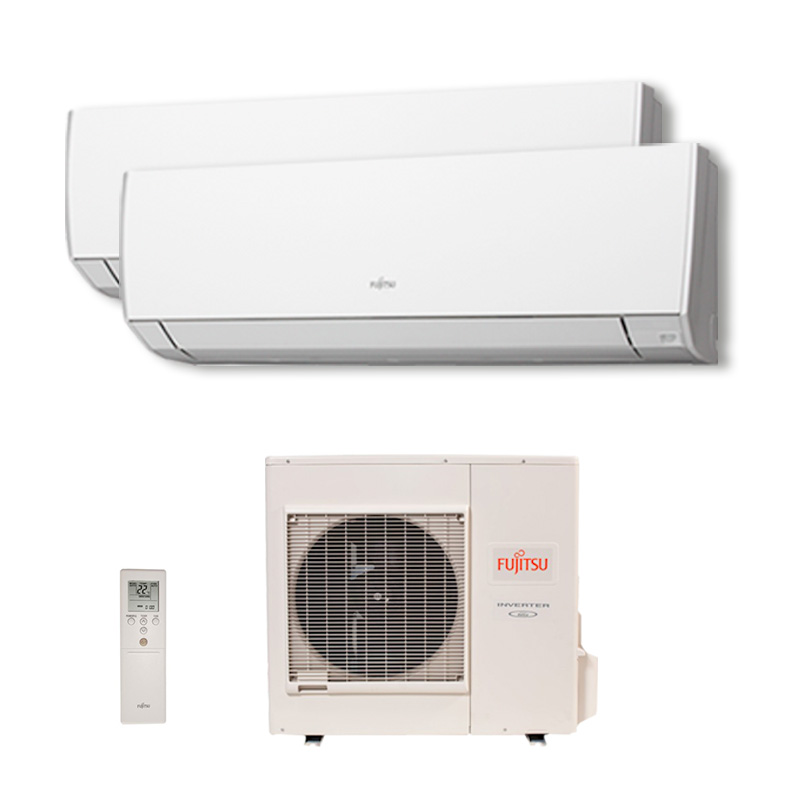 Ar Condicionado Multi Split Bi Inverter Fujitsu 1x9000 + 1x12000 Btus Qf 220v 1F AOBG18LAC2