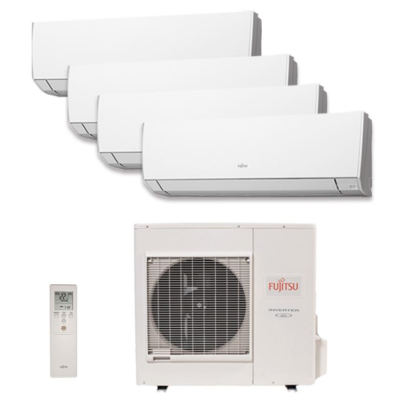 Ar Condicionado Multi Quadri Split Hw Inverter Fujitsu 3X9000 + 1X12000 BTUS Quente/Frio 220V 1F AOBG30LAT4