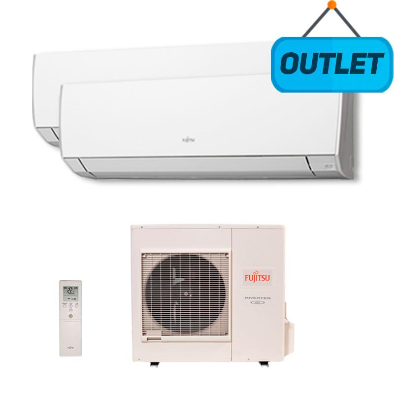 Ar Condicionado Multi Bi Split Inverter Fujitsu 1x9000 + 1x18000 Btus Quente/frio 220V AOBG24LAT3 - OUTLET