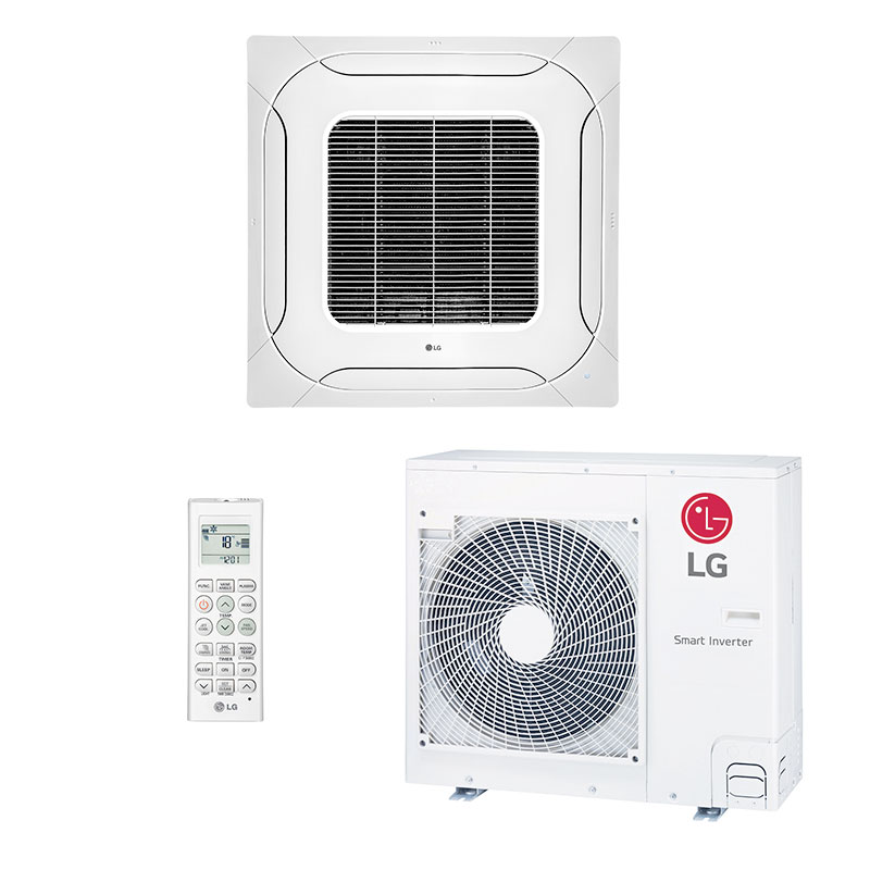 Ar Condicionado Split Cassete Inverter Lg 24000 Btus Quente/frio 220V Monofasico ATNW24GPLP0.ANWZBRZ/B