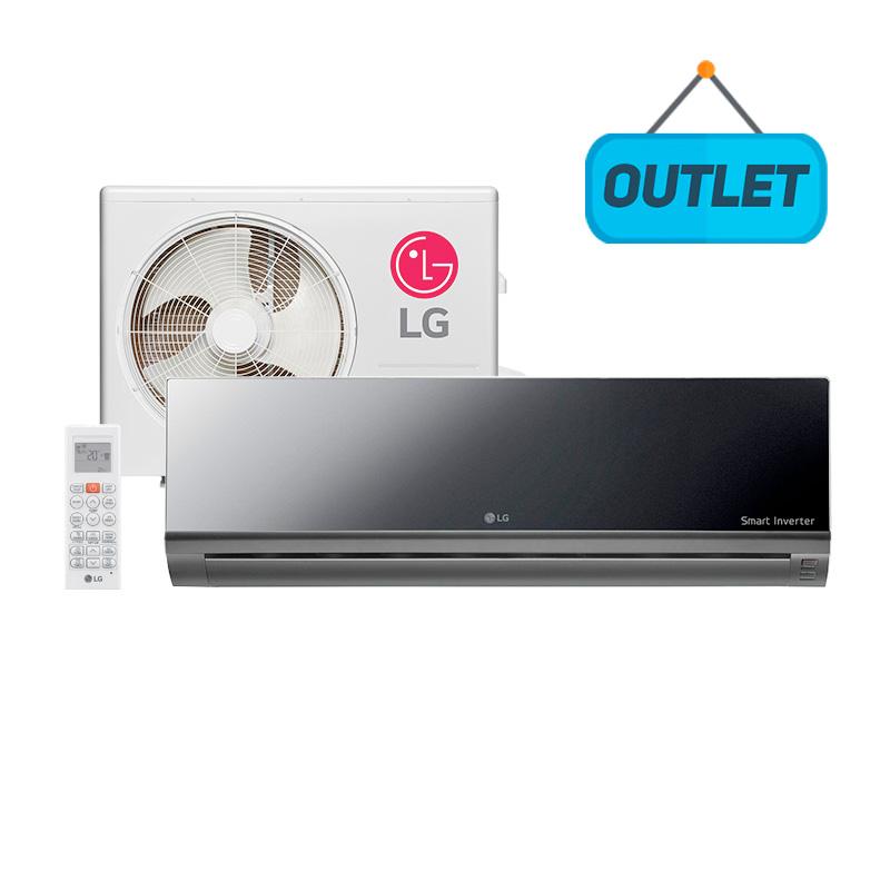 Ar Condicionado Split Hw Libero Art Cool Inverter Lg 22000 Btus Frio 220V ASNQ242CRG2 - OUTLET