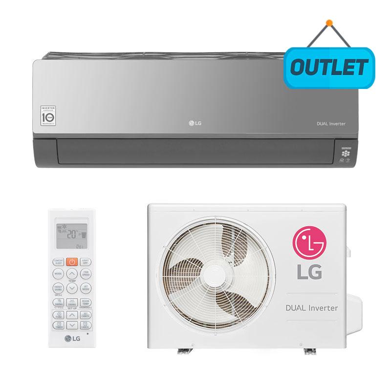 Ar Condicionado Split Hw Dual Inverter Art Cool Lg 22000 Btus Quente/frio 220V Monofasico S4NW24KERP1.EB2GAMZ - OUTLET33
