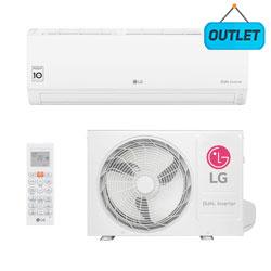 Ar Condicionado Split Hw Dual Voice Inverter Lg 9000 Btus Quente/frio 220V Monofasico S4NW09WA51A.EB2GAMZ0 - OUTLET