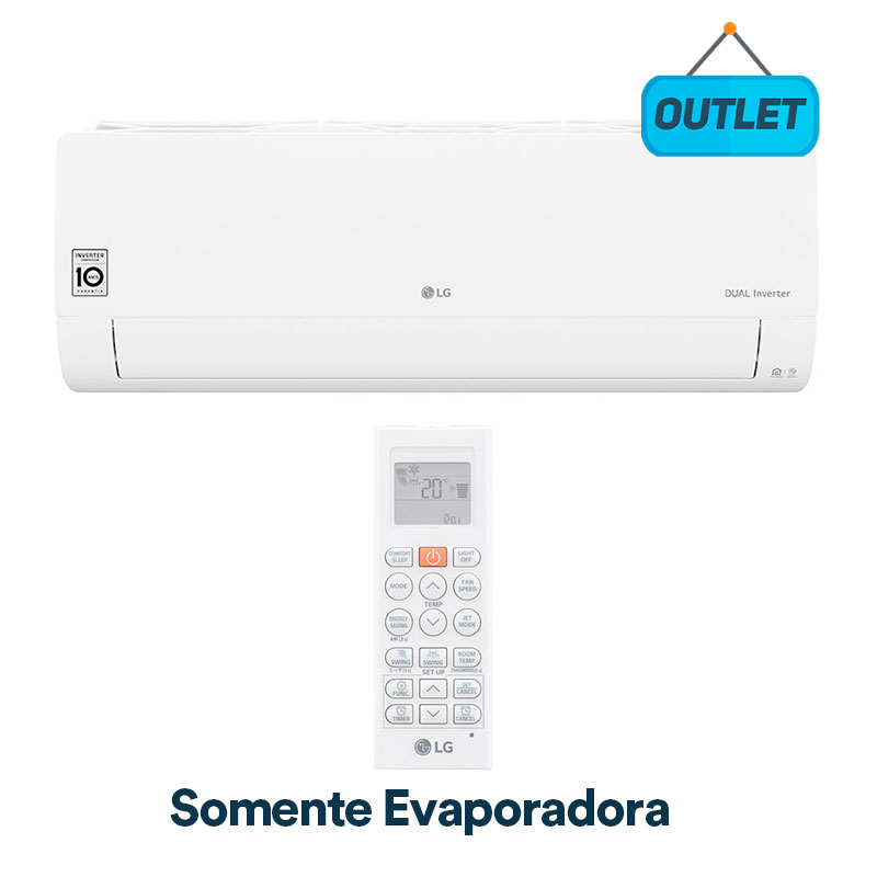Evaporadora Split Hw Lg Dual Voice Inverter 18000 Btus Quente/frio 220V Monofasico S4NW18KL31A.EB2GAMZG - OUTLET