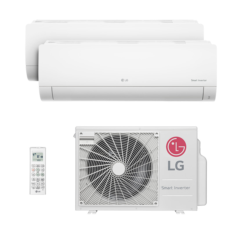 Ar Condicionado Multi Bi Split Hw Inverter Lg 1x9000 + 1x12000 Btus Quente/Frio 220V Monofasico A2UW18GFA2.AWGZBRZ