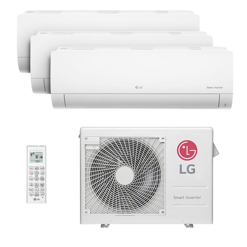 Ar Condicionado Multi Tri Split Hw Inverter Lg 2x9000+1x12000 Btus Quente/frio 220V Monofasico A3UW24GFA2.AWGZBRZ