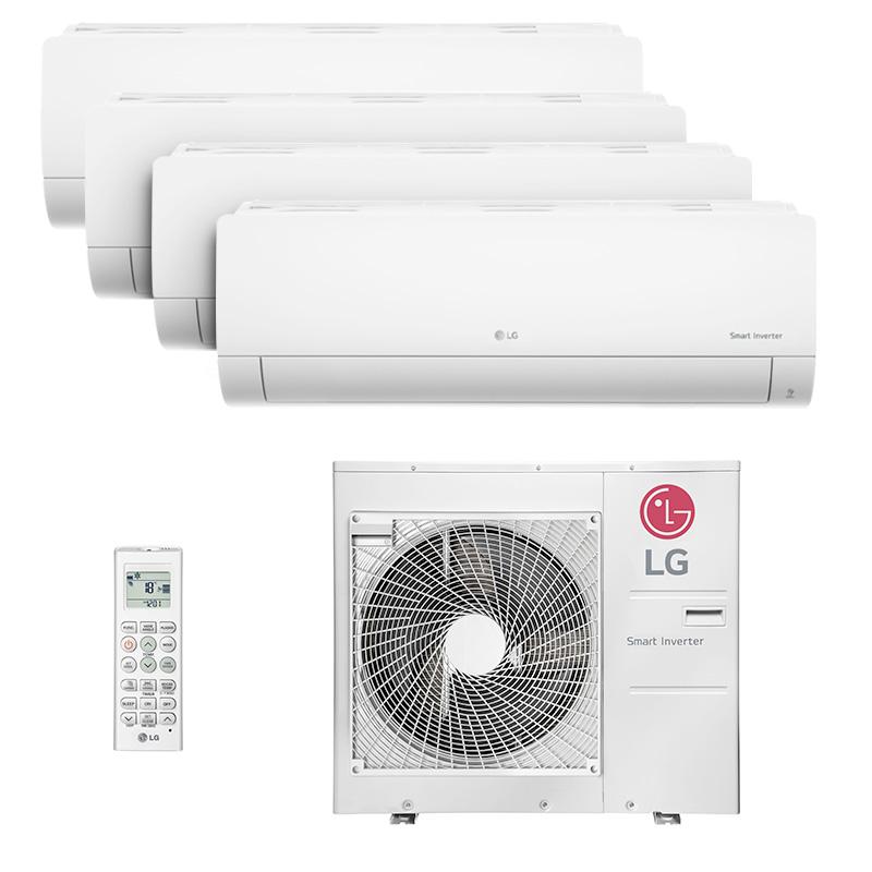 Ar Condicionado Multi Quadri Split Hw Inverter Lg 3x9000+1x18000 Btus Quente/frio 220V Monofasico A4UW30GFA2.AWGZBRZ