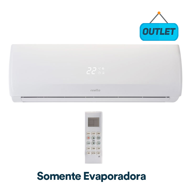 Evaporadora Split Hw On/off Rinetto 9000 Btus Frio 220V Monofasico RNTT9FR49KBTU5 - OUTLET