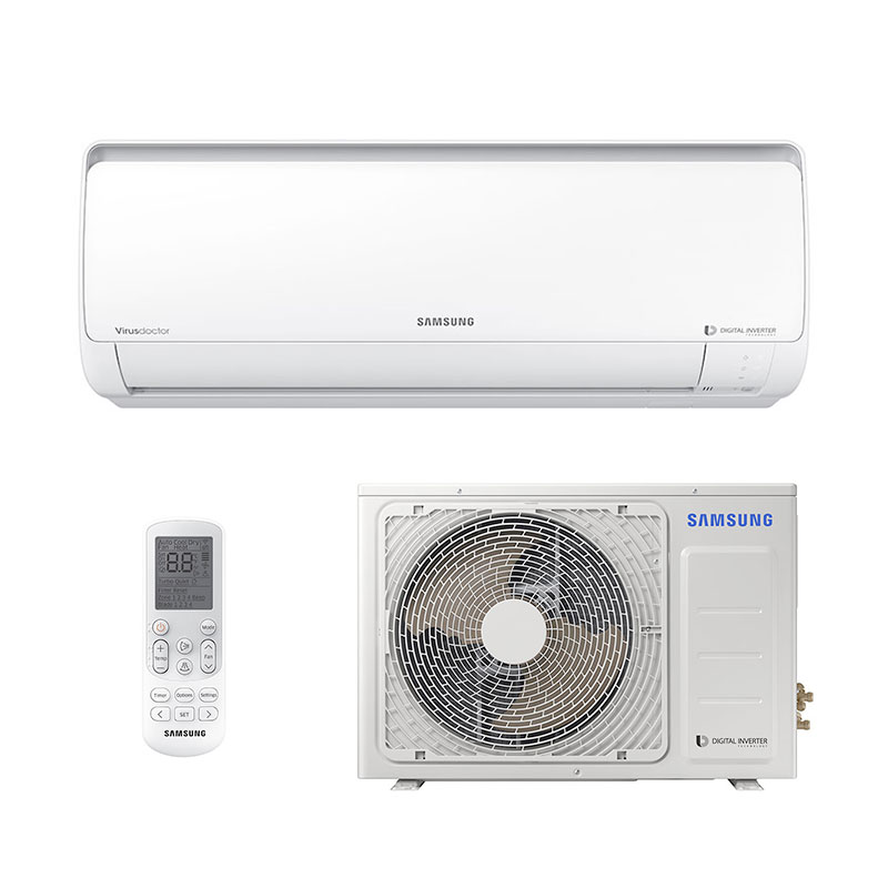 284653027 Ar Condicionado Split Hw Digital Inverter Samsung 12000 Btus Quente Frio  220V Monof sico ...