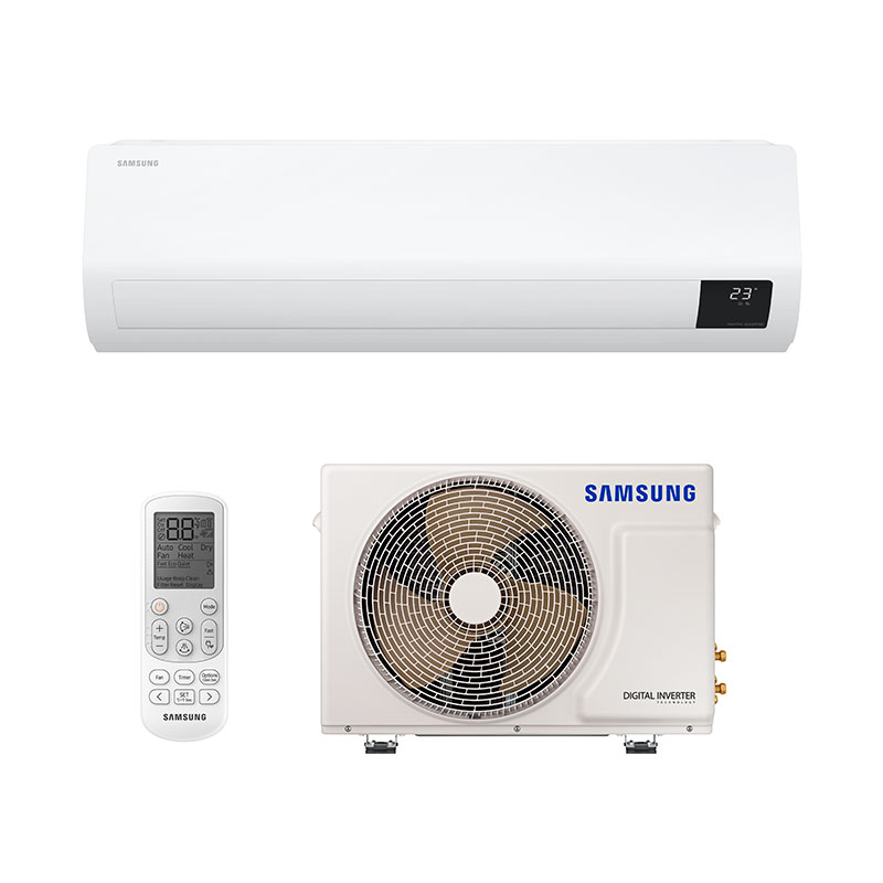 Ar Condicionado Split Digital Inverter Ultra Samsung 9000 Btus Frio 220V Monofasico AR09TVHZDWKNAZ