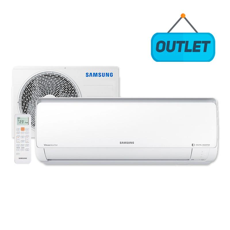 Ar Condicionado Split Hw Digital Inverter Samsung 9000 Btus Quente/frio 220V AR09MSSPBGMNAZ5 - OUTLET