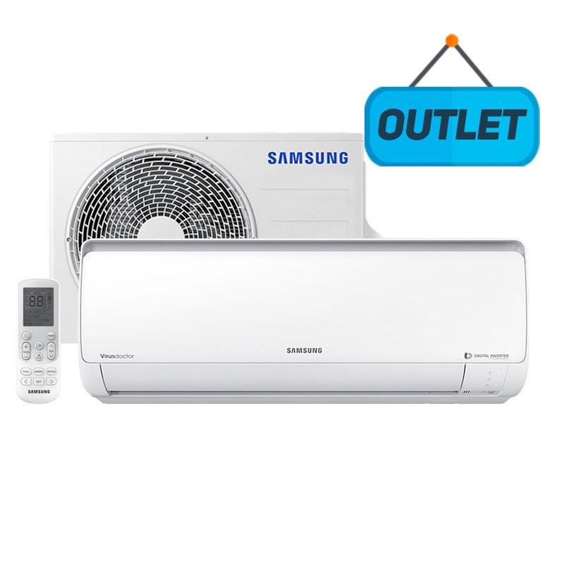 Ar Condicionado Split Hw Digital Inverter Samsung 9000 Btus Frio 220V Monofasico AR09MVSPBGMNAZ - OUTLET
