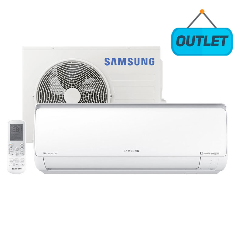 Ar Condicionado Split Digital Inverter Samsung 17000 Btus Frio 220V Monofasico AR18NVFPCWKNAZ - OUTLET