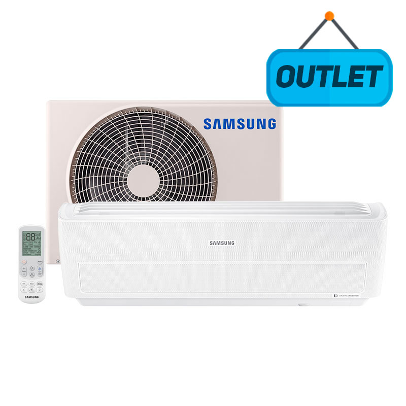 Ar Condicionado Split Inverter Wind Free Samsung 9000 Btus Quente/frio 220V Monofasico AR09NSPXBWKNAZ - OUTLET11