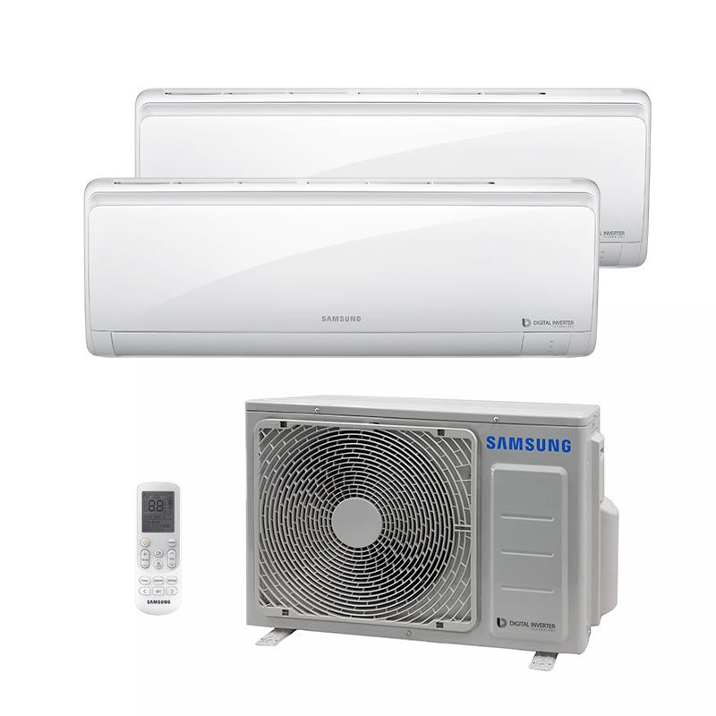 Ar Condicionado Multi Bi Split Hw Inverter Samsung 1X9000+1X12000 Btus Quente/Frio 220V 1F AJ017NCJ2CH/AZ