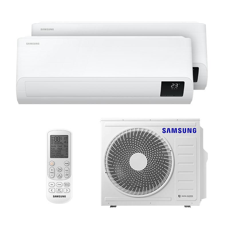 Ar Condicionado Multi Bi Split Inverter Samsung 1x12000+1x24000 Btus Quente/Frio 220v MONO AJ080TXJ4KH/EA