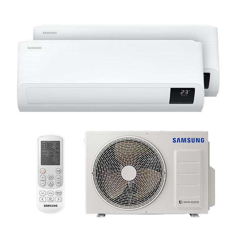 AR CONDICIONADO MULTI BI SPLIT INVERTER SAMSUNG 2X9000 BTUS Q/FR 220V MONO AJ050TXJ2KH/EA