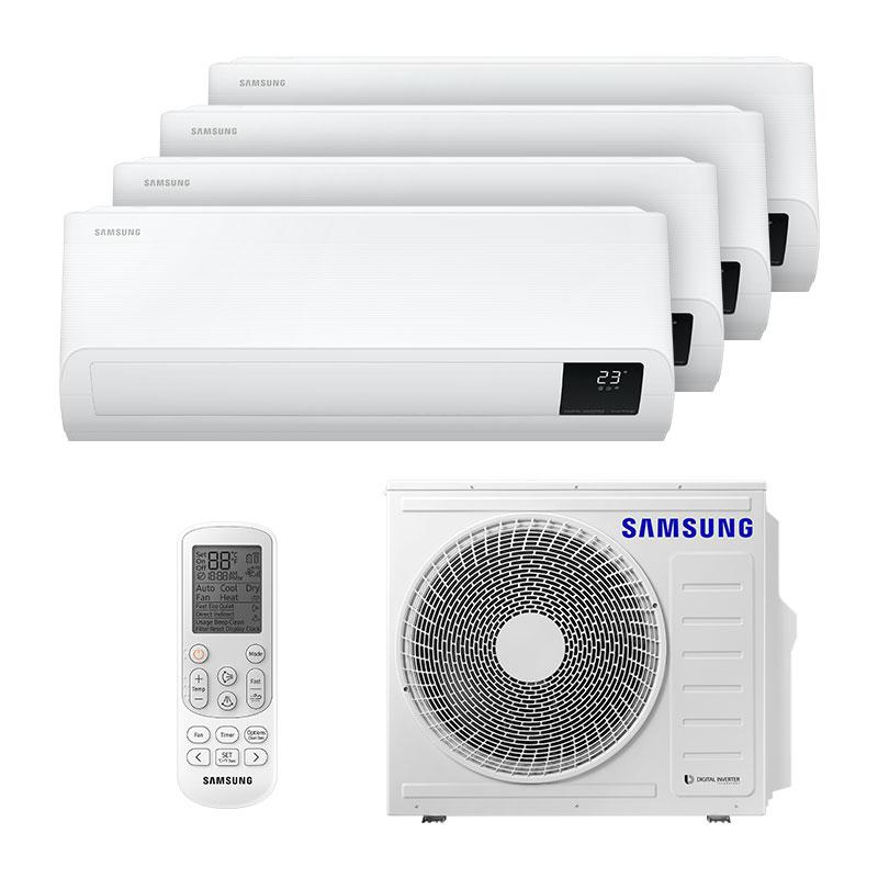 Ar Condicionado Multi Quadri Split Inverter Samsung 3x9000+1x12000 Btus Quente/Frio 220v  MONO AJ080TXJ4KH/EA