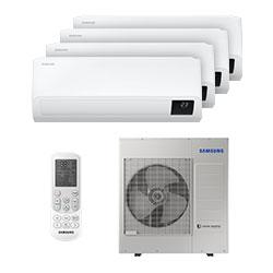Ar Condicionado Multi Quadri Split Inverter Samsung 3x9000+1x18000 Btus Quente/frio 220V Monofasico AJ100TXJ5KH/EA