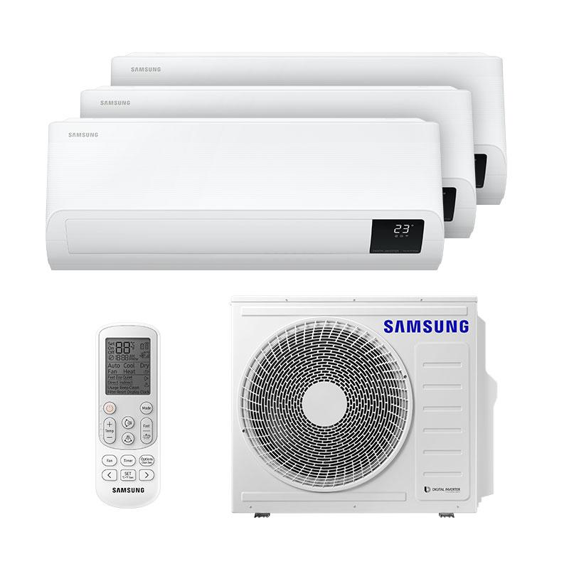 Ar Condicionado Multi Tri Split Inverter Samsung 1x9000+2x12000 Btus Quente/Frio 220V Monofasico AJ068TXJ3KH/EA