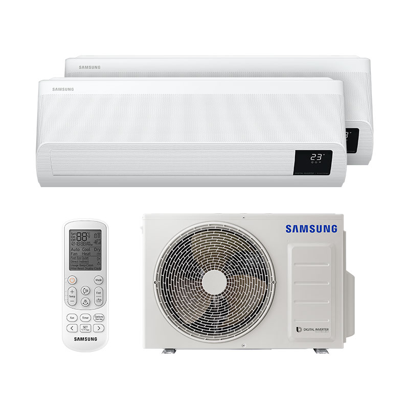 Ar Condicionado Multi Bi Split Inverter Windfree Samsung 1x9000+1x12000 Btus Quente/Frio 220V Monofasico AJ050TXJ2KH/EA