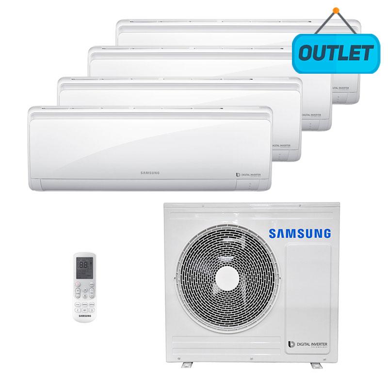 Ar Condicionado Multi Quadri Split Inverter Samsung 3x9000+1x12000 Btus Quente/frio 220V Monofasico AJ028NCJ4CH/AZ - OUTLET