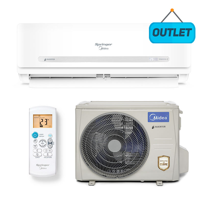 Ar Condicionado Split Hw Inverter Springer Midea 33000 Btus Quente/frio 220V Monofasico 42MBQAA33M5 - OUTLET