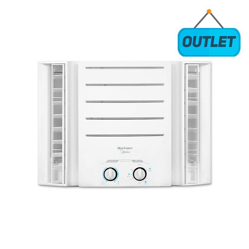 Ar Condicionado Janela Manual Springer Midea 7500 Btus Frio 127V Monofasico QCII078BB - OUTLET