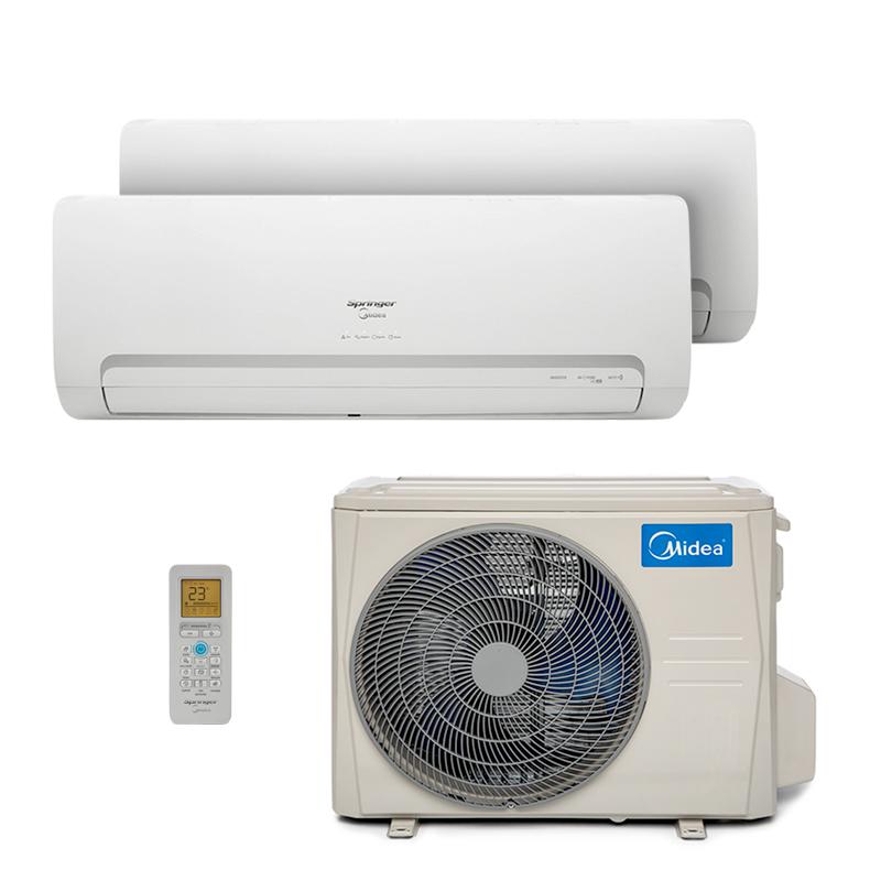 Ar Condicionado Multi Bi Split Hw Inverter Springer Midea 1x9000+1x18000 Btus Quente/Frio 220V 38MBTA27M5