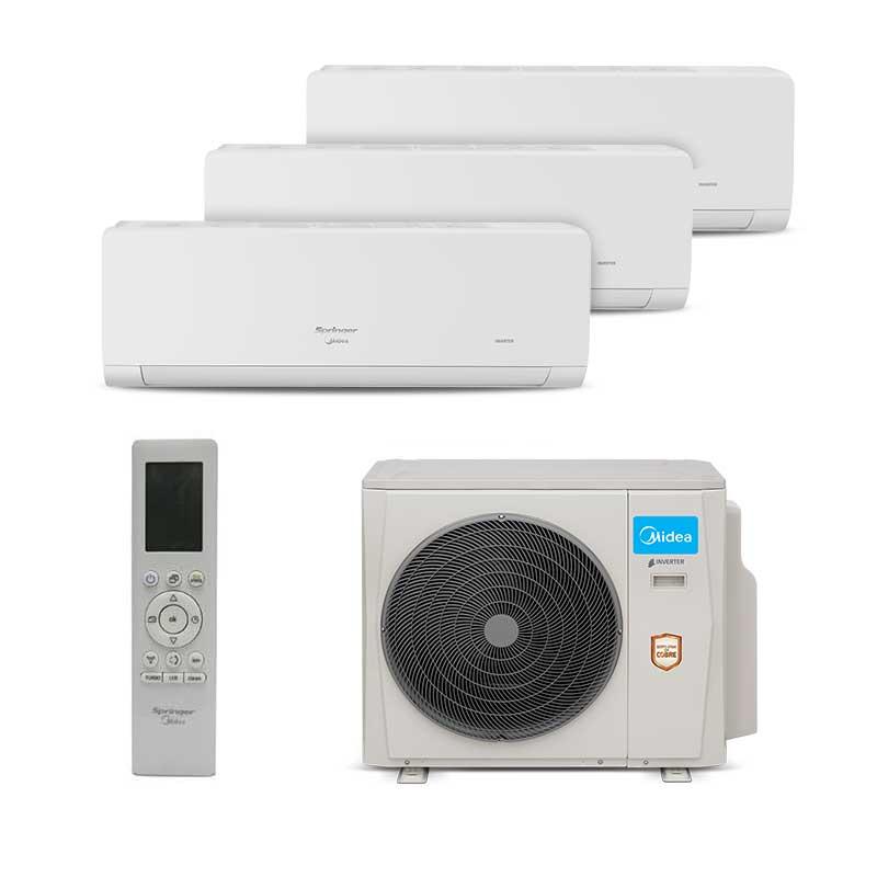 Ar Condicionado Multi Tri Split Hw Inverter Springer Midea 2x9000+1x18000 Btus Quente/Frio 220V 38MBMA36M5