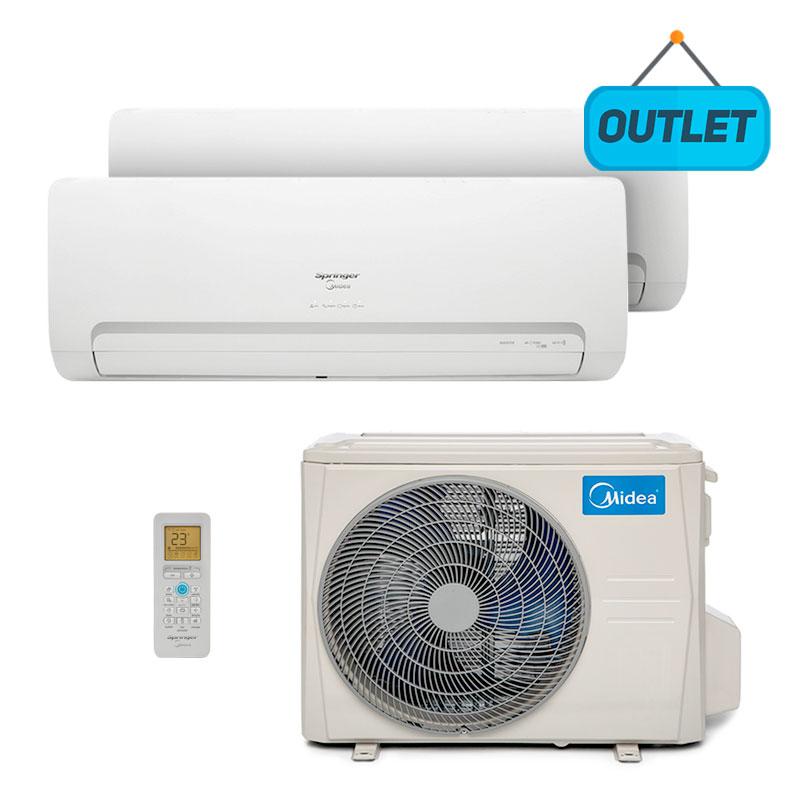 Ar Condicionado Multi Bi Split Hw Inverter Springer Midea 2x9000 Btus Quente/frio 220V Monofasico 38MMBBA18M5 - OUTLET