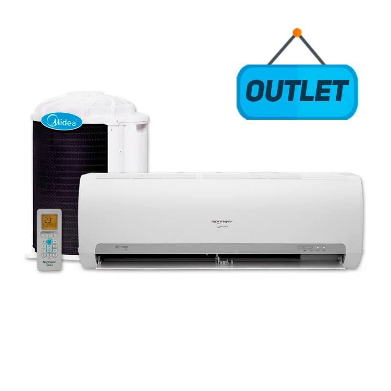 Ar Condicionado Split Hw On/Off Springer Midea 18000 Btus Quente/Frio 220V 42MAQA18S5 - OUTLET
