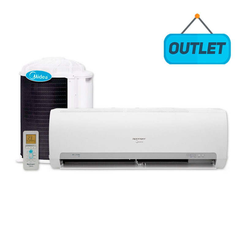 Ar Condicionado Split Hw On/off Springer Midea 9000 Btus Quente/frio 220V Monofasico 42MAQA09S5 - OUTLET