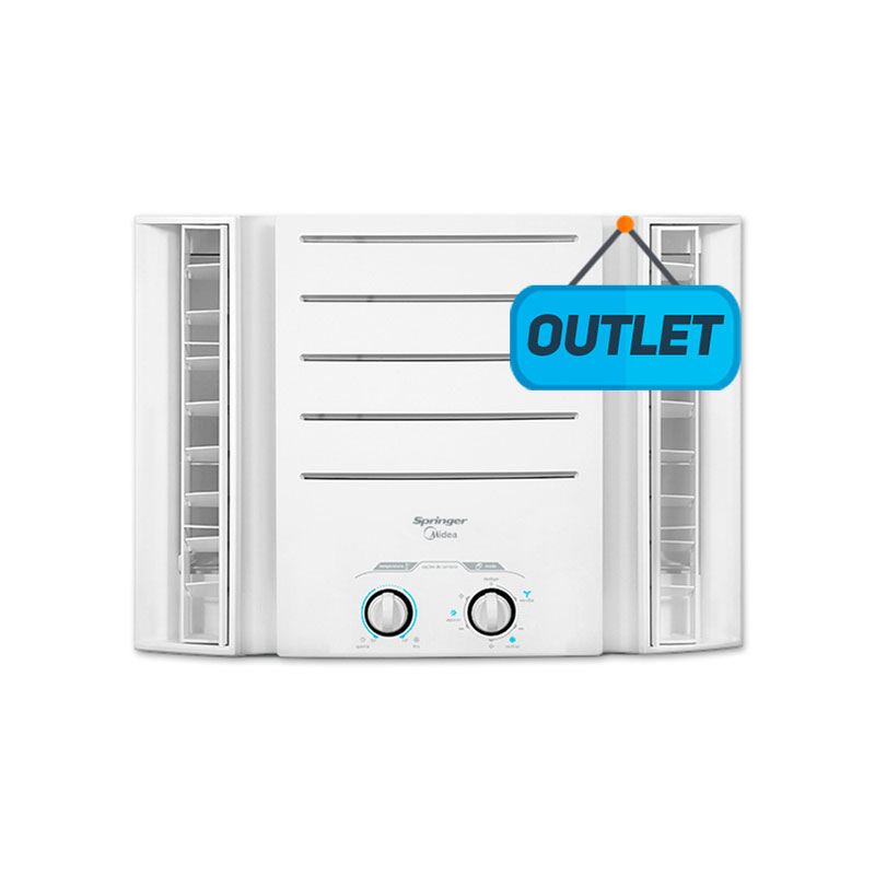 Ar Condicionado Janela Manual Springer Midea 10.000 Btus Frio 110V 1F QCI108BB  -  OUTLET